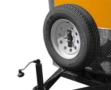 Front mounted Spare Tire Carrier