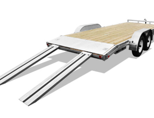 Open Car Hauler with Ramps (aluminum)