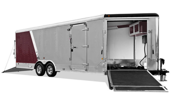 Combination Round Top Snow and Car Hauler Trailer