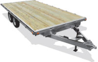 Open Aluminum Basic Car Hauler with Ramps